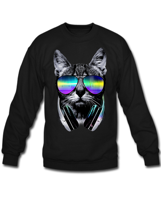 DJ cat Sweatshirt